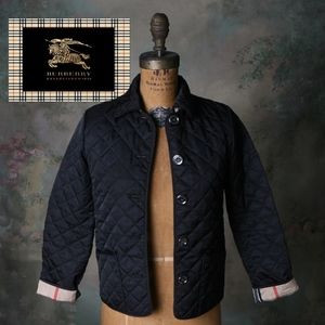Burberry 10Y Diamond Quilted Jacket Black